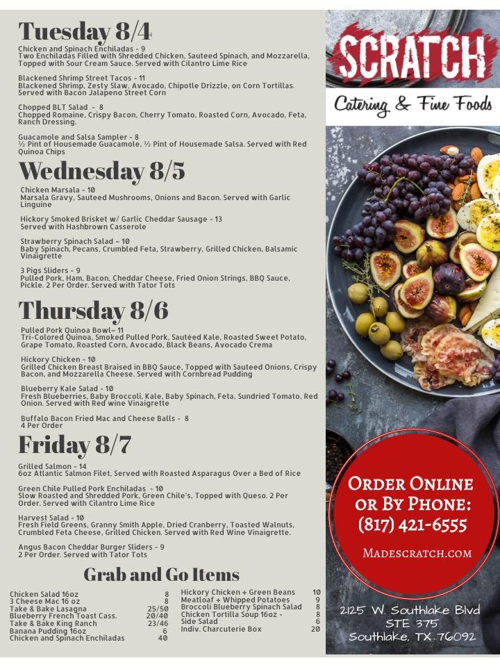 Aug 3 menu